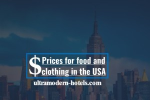 Prices in the USA 2018 for food, men's and women's clothing
